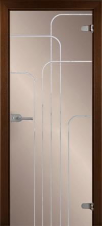 Межкомнатная дверь La Porte Glass 500-3 бронзовое стекло