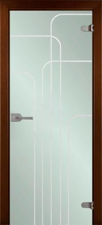 Межкомнатная дверь La Porte Glass 500-3 выбеленное стекло