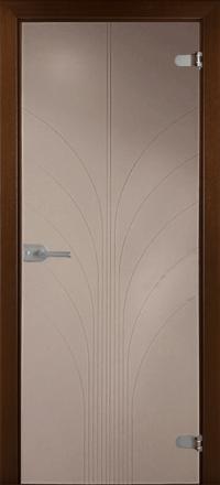 Межкомнатная дверь La Porte Glass 500-4 бронзовое стекло