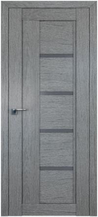 Межкомнатная дверь ПрофильДорс 2.08XN Грувд серый стекло графит