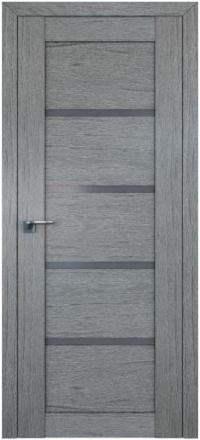 Межкомнатная дверь ПрофильДорс 2.09XN Грувд серый стекло графит
