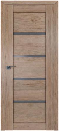 Межкомнатная дверь ПрофильДорс 2.09XN Салинас светлый стекло графит