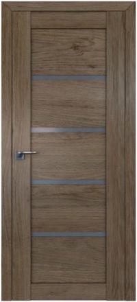 Межкомнатная дверь ПрофильДорс 2.09XN Салинас темный стекло графит