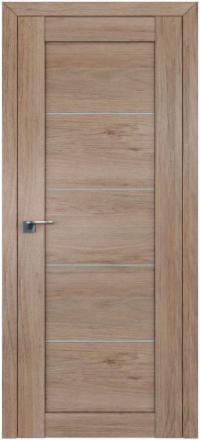 Межкомнатная дверь ПрофильДорс 2.11XN Салинас светлый стекло графит