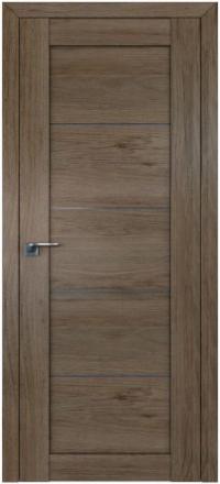 Межкомнатная дверь ПрофильДорс 2.11XN Салинас темный стекло графит