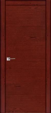 Межкомнатная дверь La Porte Modern 100-1 красное дерево глухое полотно