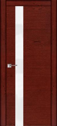 Межкомнатная дверь La Porte Modern 100-1S красное дерево остекленная