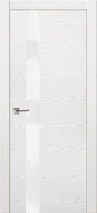 Межкомнатная дверь La Porte Modern 100-1S Ясень бланко остекленная