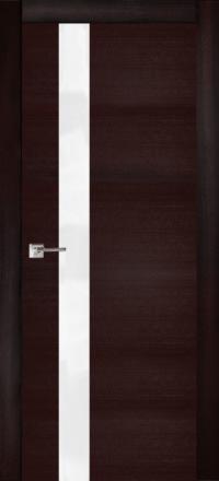 Межкомнатная дверь La Porte Modern 100-1S Ясень браун остекленная