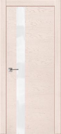 Межкомнатная дверь La Porte Modern 100-1S Ясень Карамель остекленная