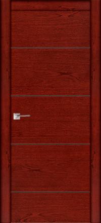 Межкомнатная дверь La Porte Modern 100-2 красное дерево глухое полотно