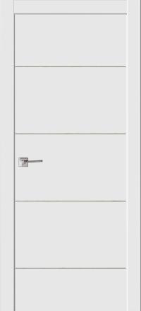 Межкомнатная дверь La Porte Modern 100-2 Эмаль белая глухое полотно