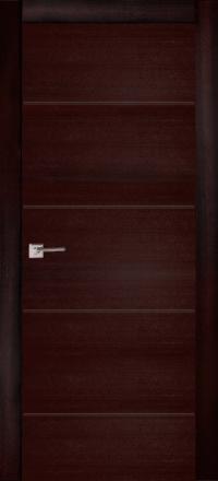 Межкомнатная дверь La Porte Modern 100-2 Ясень браун глухое полотно