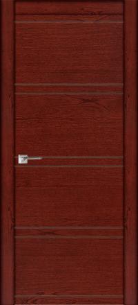 Межкомнатная дверь La Porte Modern 100-2-2 красное дерево глухое полотно
