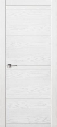 Межкомнатная дверь La Porte Modern 100-2-2 Ясень бланко глухое полотно