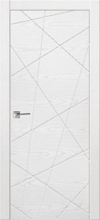 Межкомнатная дверь La Porte Modern 100-5 Ясень бланко глухое полотно