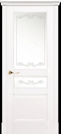 Межкомнатная дверь La Porte New Classic 200-2 Эмаль белая матирование Крит