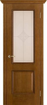 Межкомнатная дверь Porte Vista Классика Шервуд античный дуб со стеклом ромб