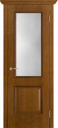 Межкомнатная дверь Porte Vista Классика Шервуд античный дуб со стеклом классик