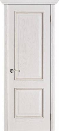 Межкомнатная дверь Porte Vista Классика Шервуд белая патина глухая