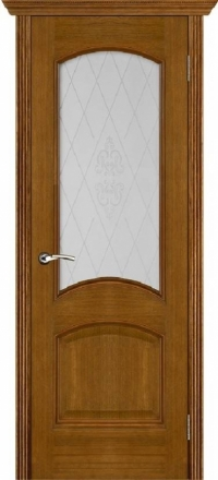 Межкомнатная дверь Porte Vista Классика Тера античный дуб со стеклом