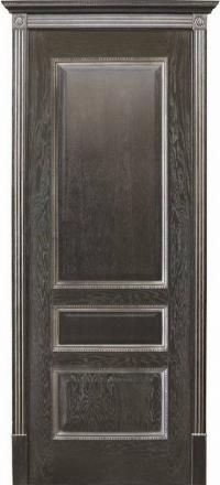 Межкомнатная дверь Porte Vista Классика Вена черная патина глухая