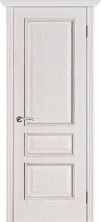 Межкомнатная дверь Porte Vista Классика Вена белая патина глухая