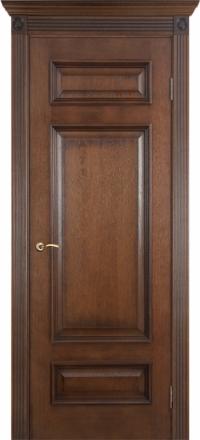 Межкомнатная дверь Porte Vista Классика Рим коньяк красный глухая