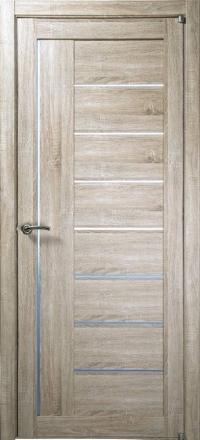 Межкомнатная дверь Uberture Eco-Light 2110 велюр серый со стеклом