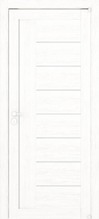 Межкомнатная дверь Uberture Eco-Light 2110 велюр белый со стеклом