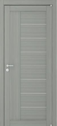 Межкомнатная дверь Uberture Eco-Light 2110 велюр графит со стеклом