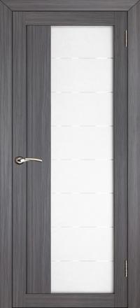 Межкомнатная дверь Uberture Eco-Light 2112 велюр графит со стеклом
