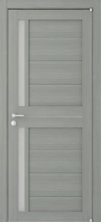 Межкомнатная дверь Uberture Eco-Light 2121 велюр графит со стеклом