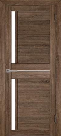 Межкомнатная дверь Uberture Eco-Light 2121 велюр серый со стеклом
