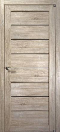 Межкомнатная дверь Uberture Eco-Light 2125 велюр серый со стеклом