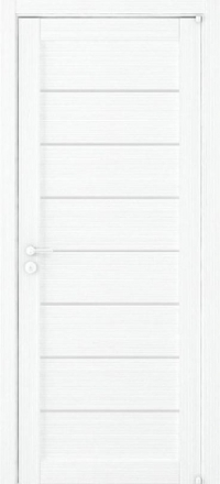 Межкомнатная дверь Uberture Eco-Light 2125 велюр белый со стеклом