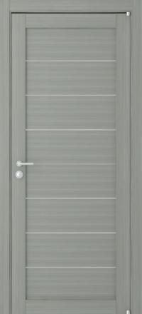 Межкомнатная дверь Uberture Eco-Light 2125 велюр графит со стеклом