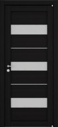 Межкомнатная дверь Uberture Eco-Light 2126 велюр шоко со стеклом