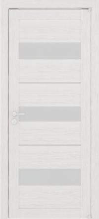 Межкомнатная дверь Uberture Eco-Light 2126 велюр капучино со стеклом