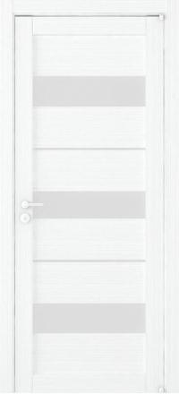 Межкомнатная дверь Uberture Eco-Light 2126 велюр белый со стеклом