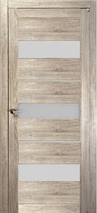 Межкомнатная дверь Uberture Eco-Light 2126 велюр серый со стеклом