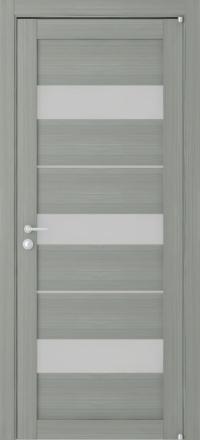 Межкомнатная дверь Uberture Eco-Light 2126 велюр графит со стеклом