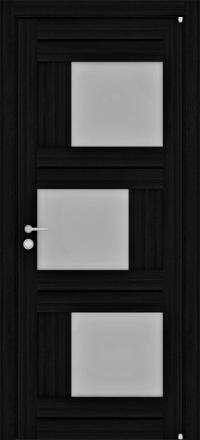 Межкомнатная дверь Uberture Eco-Light 2181 велюр шоко со стеклом