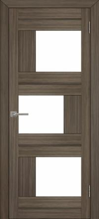 Межкомнатная дверь Uberture Eco-Light 2181 велюр графит со стеклом