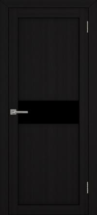 Межкомнатная дверь Uberture UniLine 30001 велюр шоко со стеклом