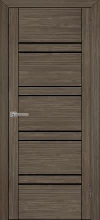 Межкомнатная дверь Uberture UniLine 30026 велюр графит со стеклом