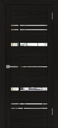 Межкомнатная дверь Uberture UniLine 30027 велюр шоко с зеркалом