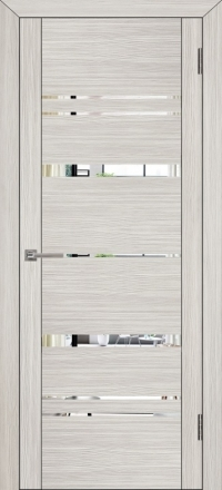 Межкомнатная дверь Uberture UniLine 30027 велюр капучино с зеркалом