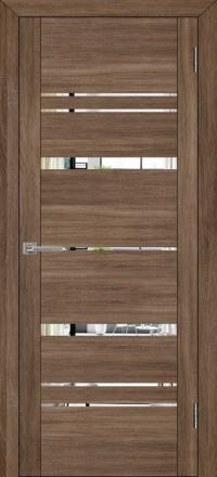 Межкомнатная дверь Uberture UniLine 30027 велюр серый с зеркалом
