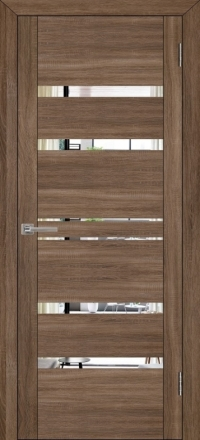 Межкомнатная дверь Uberture UniLine 30030 велюр серый с зеркалом